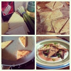 Mangia Fried Tofu Triangles