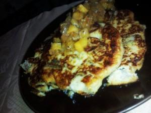 Mashed Potato Pancakes w Mangia Apple Chutney 4