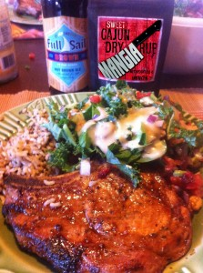 Beer Marinated Cajun Pork Loin Chops