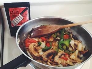 Cajun Mushroom Penne with Alfredo Sauce